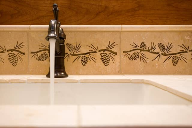 Caldera Springs Master Bathroom Tile Art