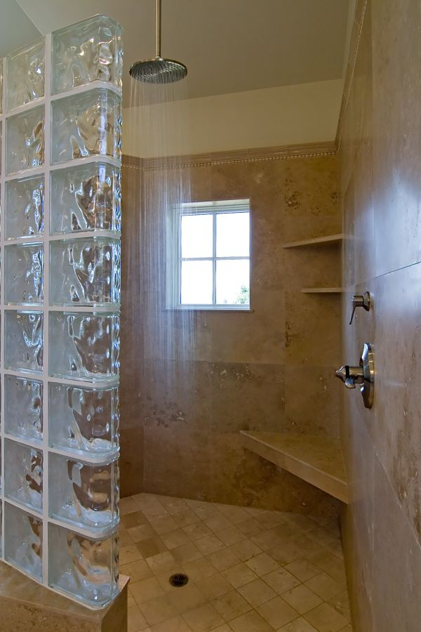 Awbrey Butte custom master bathroom with rain shower