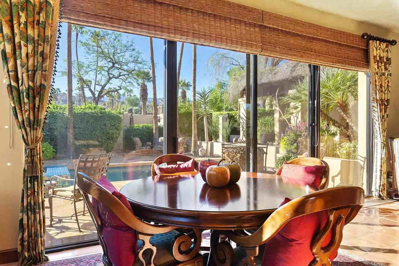 Palm Desert Custom Home Coachella Estate Breakfast Nook