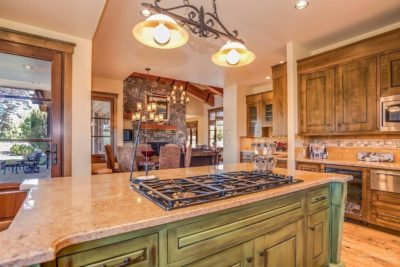 Pronghorn Resort Custom Home Kitchen Island