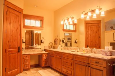 Sunriver Oregon Custom Home Master Bathroom
