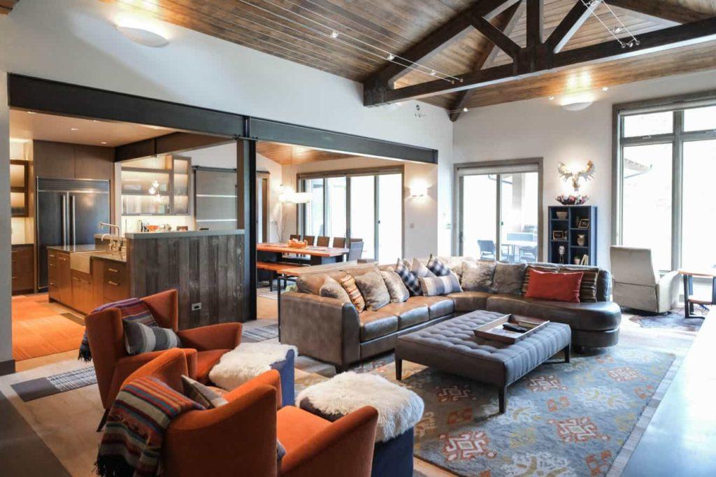 caldera springs sunriver custom home living room