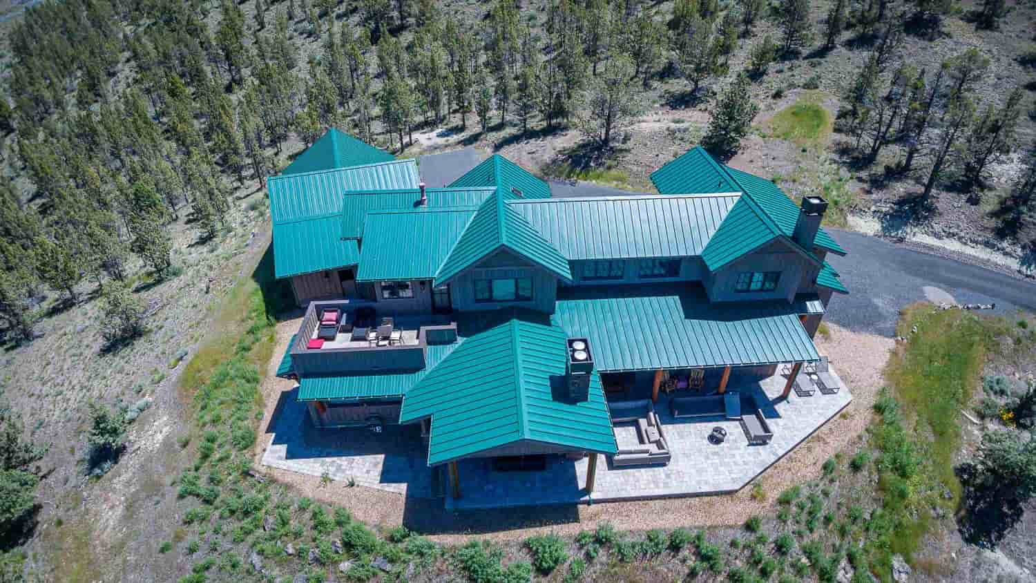 Prineville Custom Home drone view